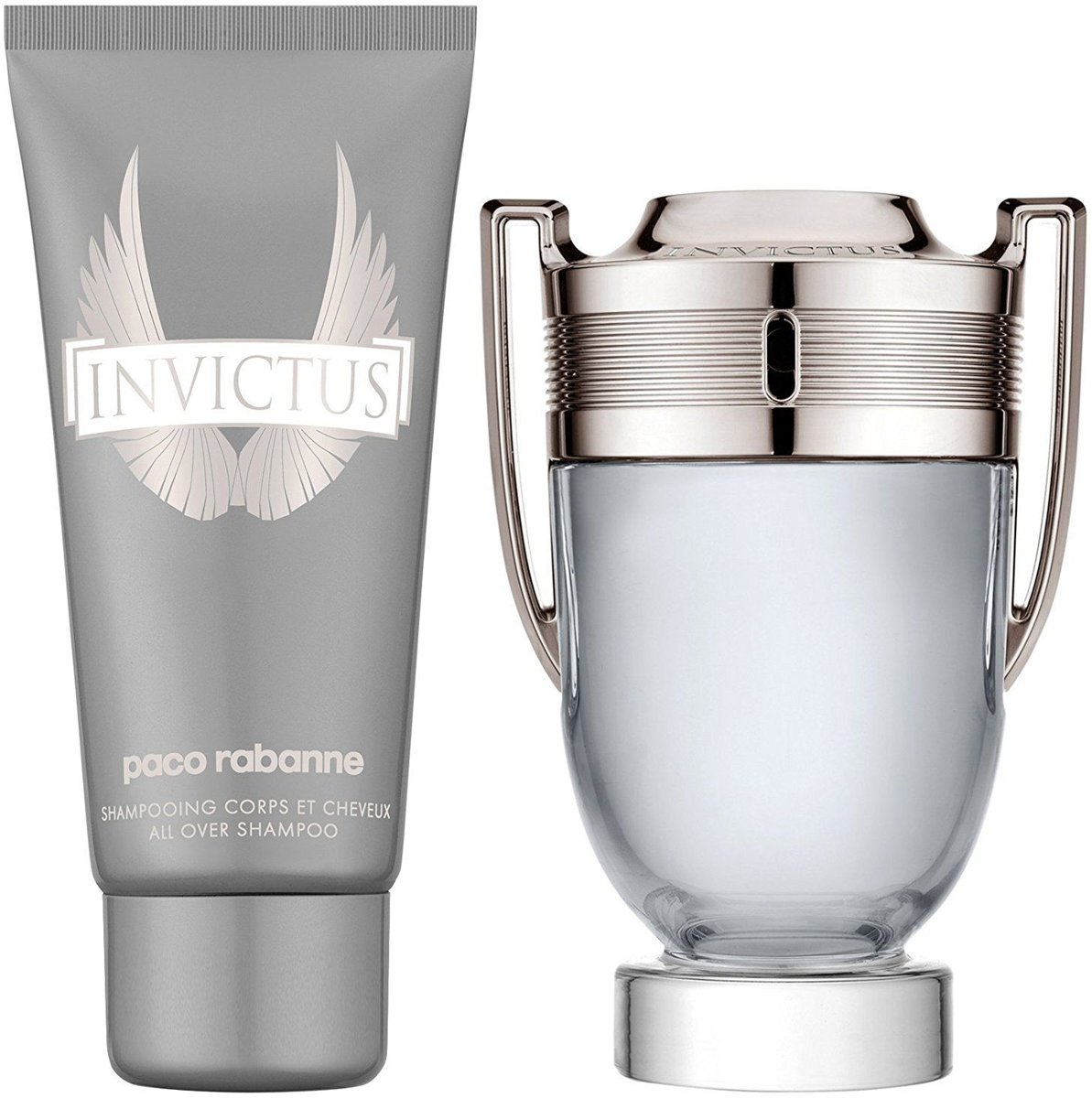 Paco Rabanne Invictus - 100 ml - EdT Herenparfum + 100 ml Shampoo + 10ml Mini EdT Giftset
