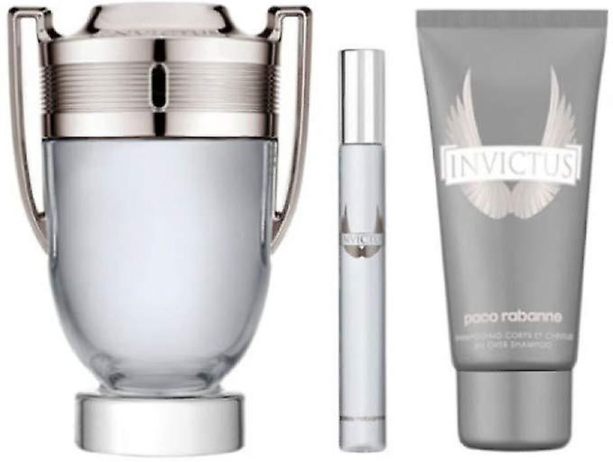 Paco Rabanne Invictus Gift Set 100ml EDT + 75ml Shower Gel + 10ml EDT
