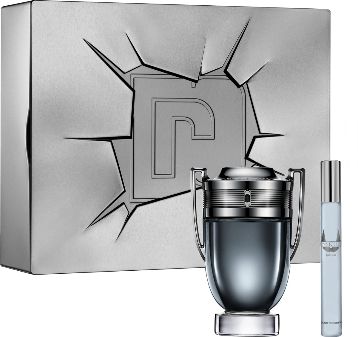 Paco Rabanne Invictus Intense Giftset - 100 ml eau de toilette spray + 10 ml eau de toilette spray - cadeauset voor heren