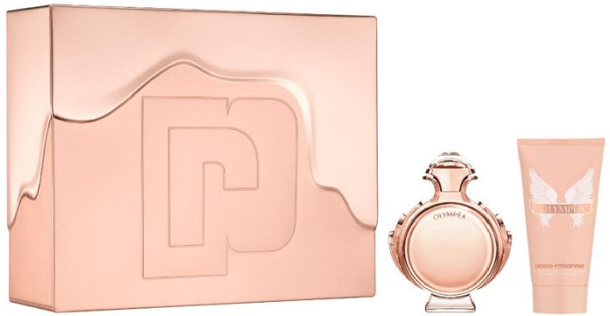 Paco Rabanne Olympea - 50 ml - Eau de parfum - for Women - Giftset inclusief Bodylotion