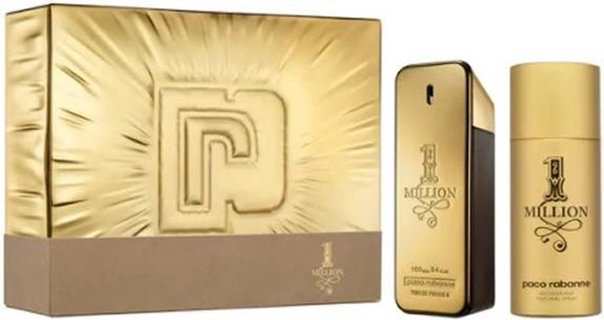 Paco Rabanne One Million Eau De Toilette Spray 100ml Set 2 Pieces 2020