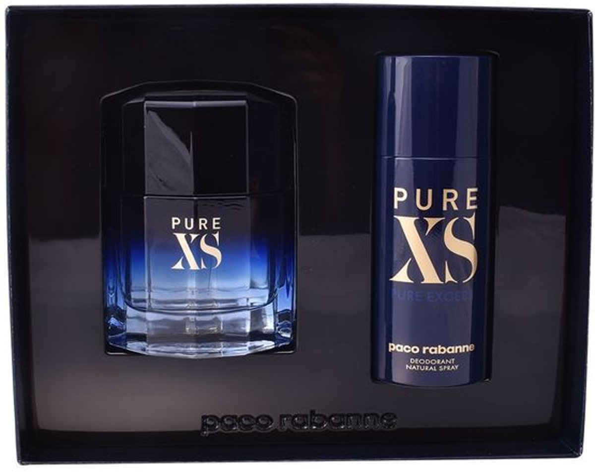 Paco Rabanne Pure XS Giftset - 100 ml eau de toilette spray + 150 ml deodorant spray