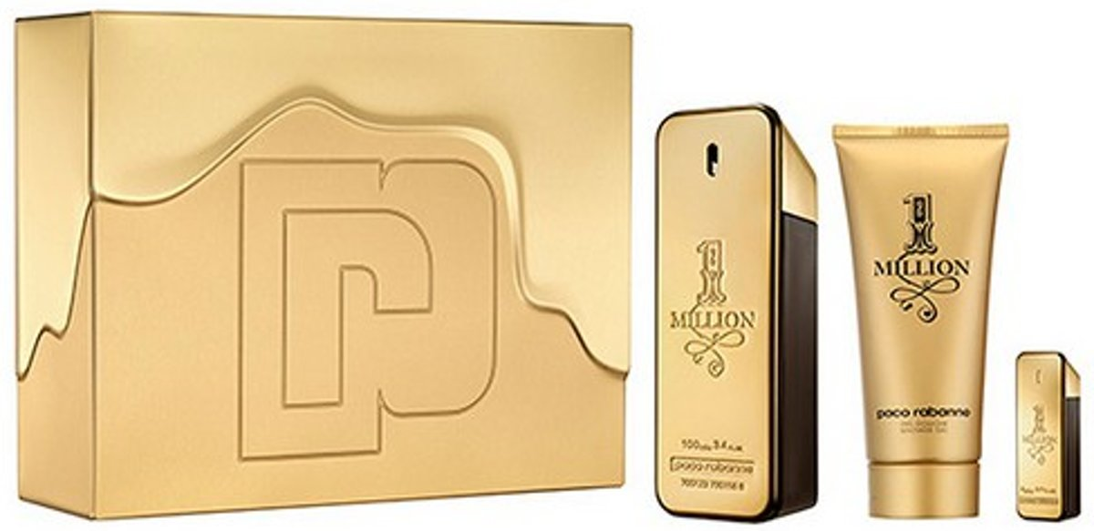 Parfumset voor Heren 1 Million Paco Rabanne (3 pcs)