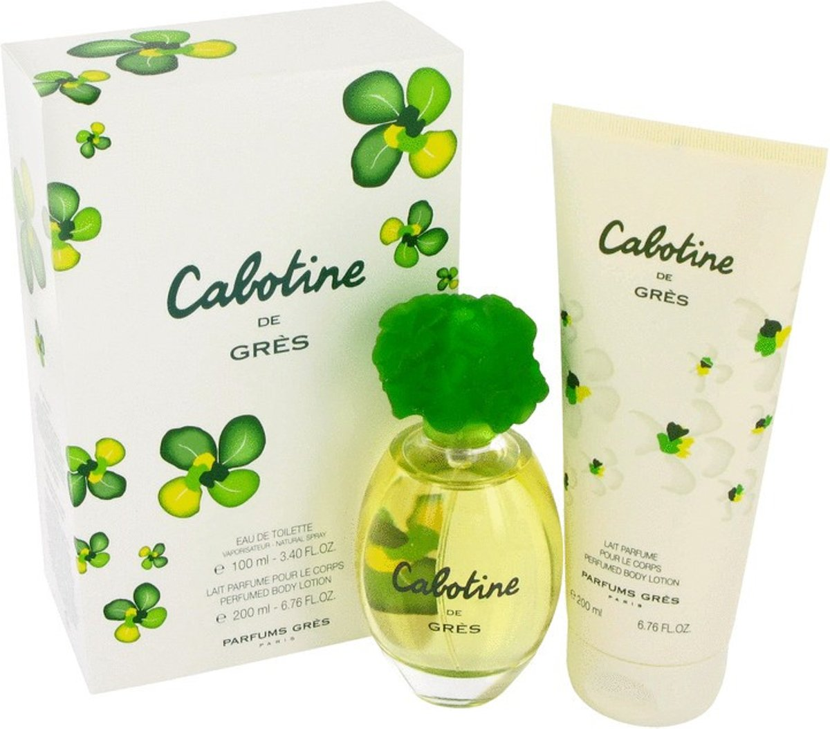 Parfums Gres Cabotine -- - Gift Set 100 ml Eau De Toilette Spray   6.7 oz Body Lotion Women