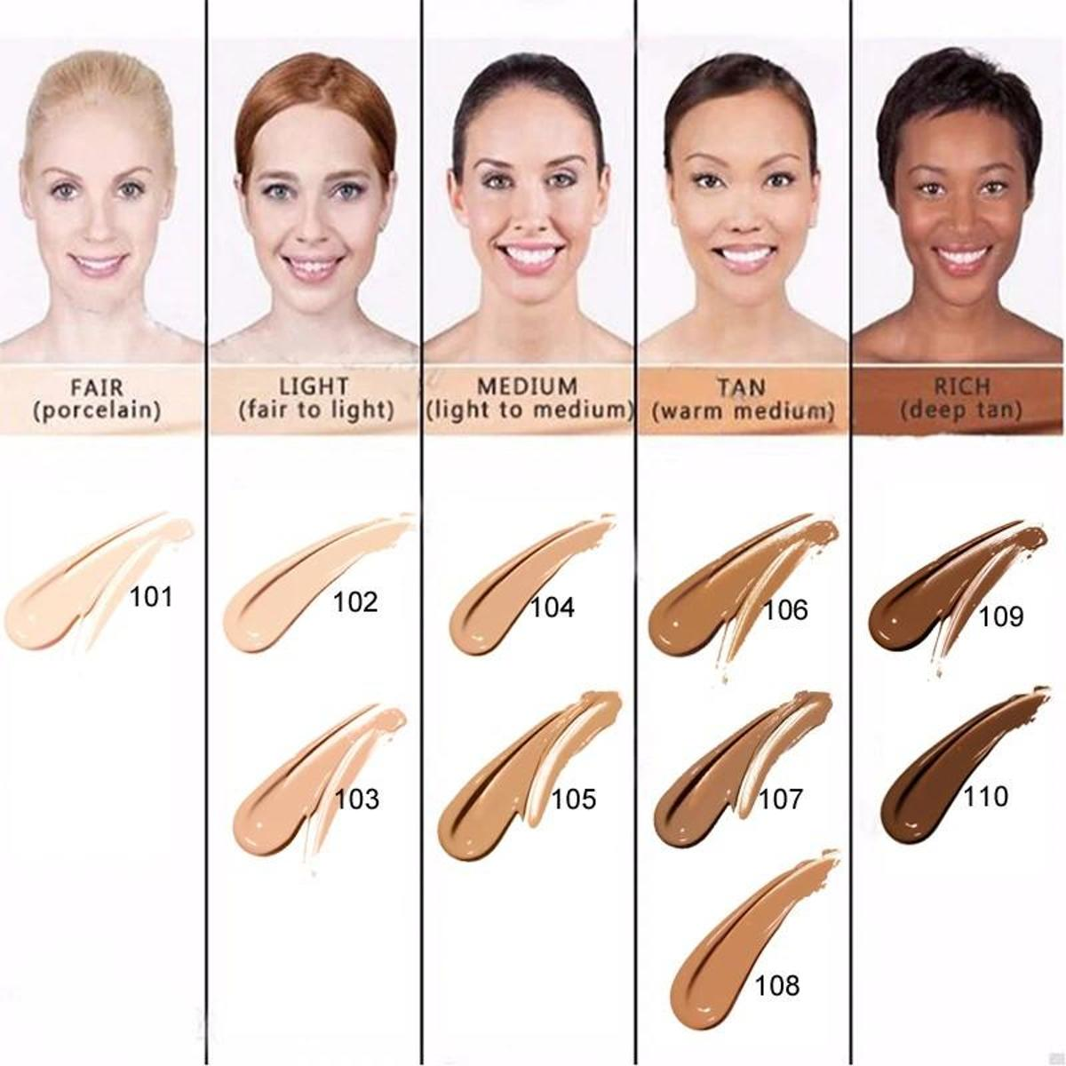 101 porcelain - PHOERA FOUNDATION™ - Soft Matte Full Coverage Liquid Foundation