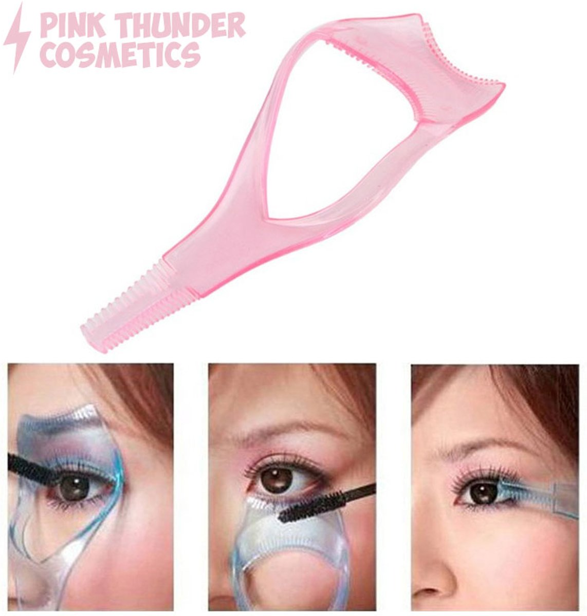 3-in-1 mascara applicator | Beauty Tool | Pink Thunder Cosmetics |Anti knoei