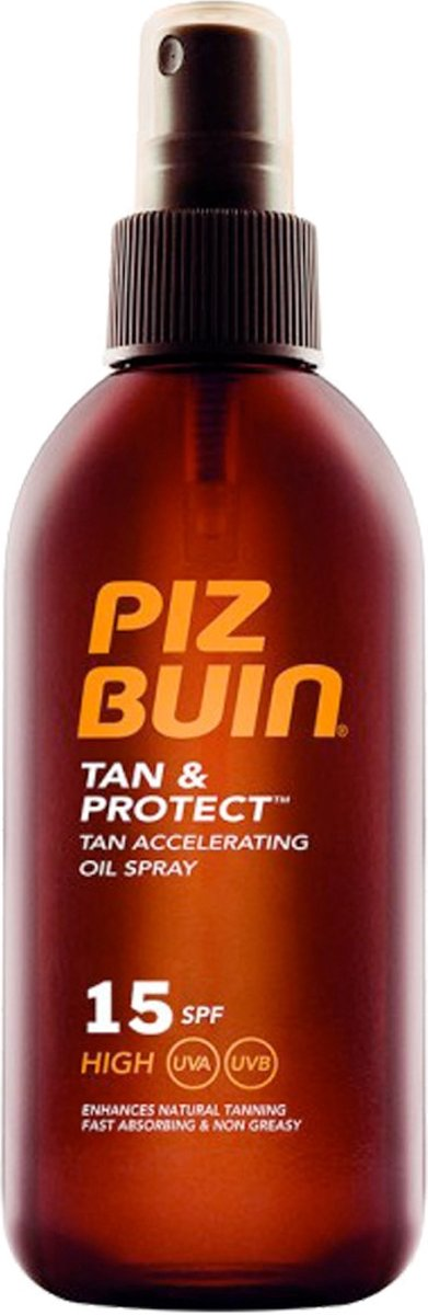 Piz Buin Tan & Protect Dry Oil Spray Factor(spf) 15 - 150 ml - Zonnebrand spray