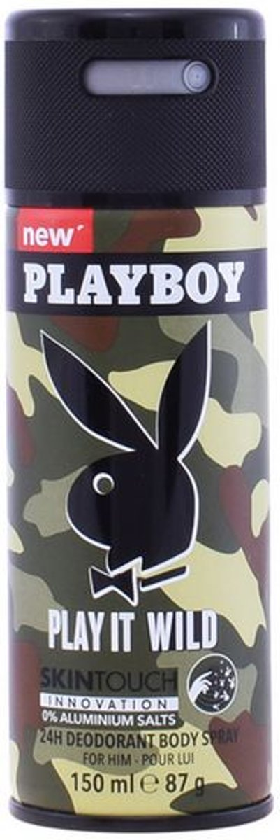 Deodorant Spray Play It Wild Men Playboy (150 ml)