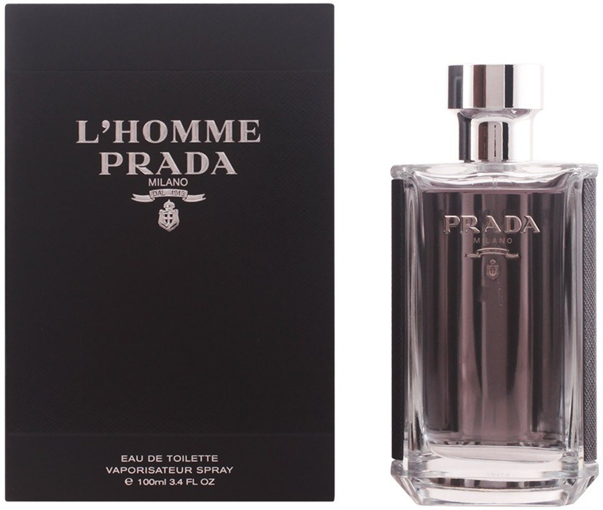 MULTI BUNDEL 2 stuks LHOMME PRADA Eau de Toilette Spray 100 ml