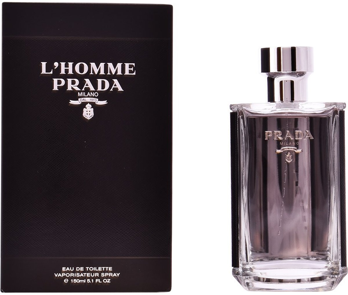 MULTI BUNDEL 2 stuks LHOMME PRADA Eau de Toilette Spray 150 ml