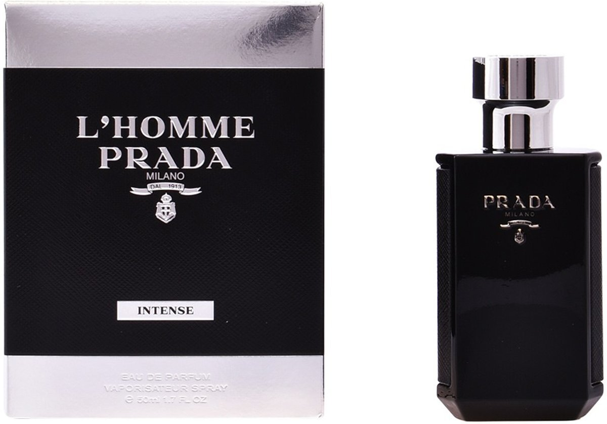 MULTI BUNDEL 2 stuks LHOMME PRADA INTENSE Eau de Perfume Spray 50 ml