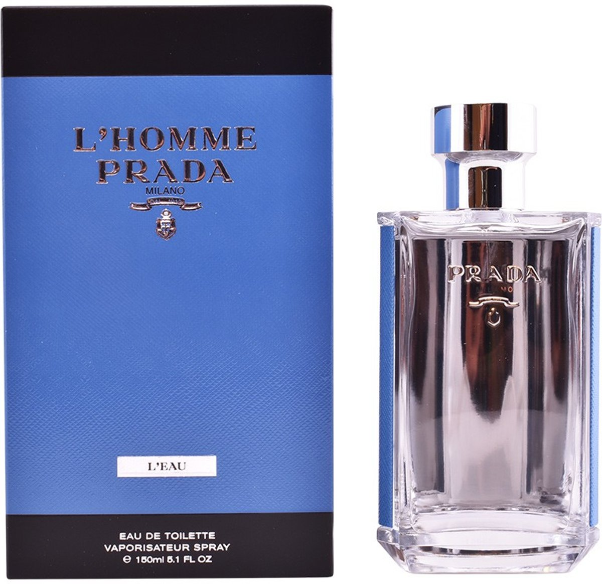 MULTI BUNDEL 2 stuks LHOMME PRADA LEAU Eau de Toilette Spray 150 ml