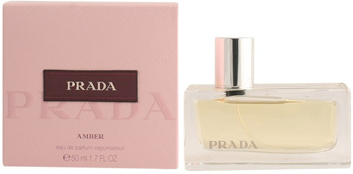 MULTI BUNDEL 2 stuks PRADA AMBER Eau de Perfume Spray 50 ml