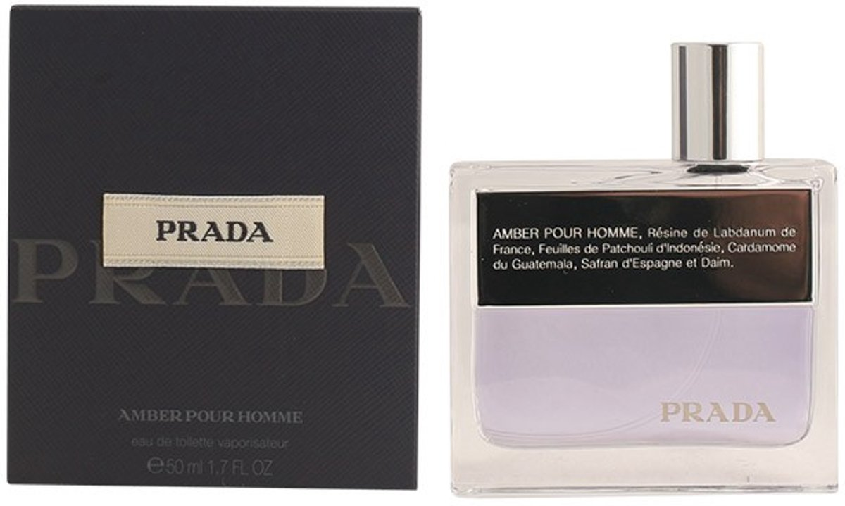 MULTI BUNDEL 2 stuks PRADA AMBER HOMME eau de toilette spray 50 ml