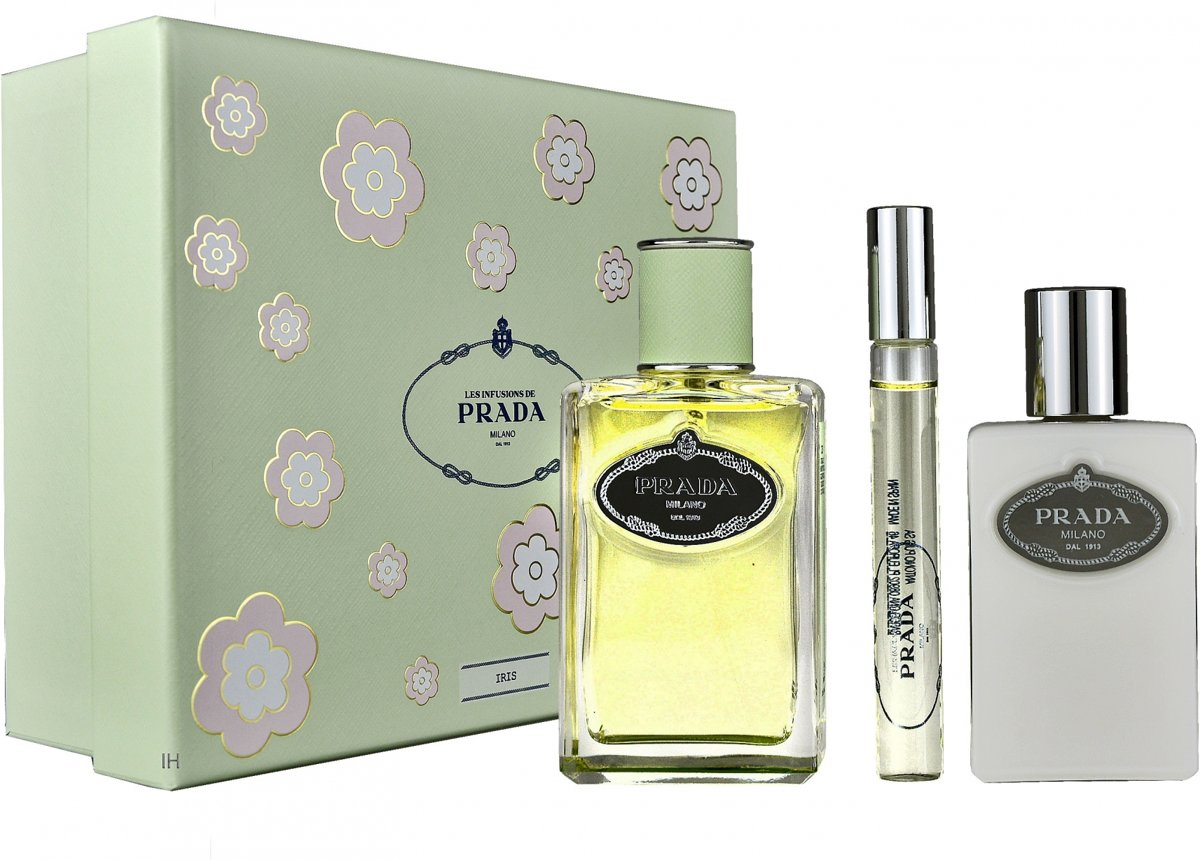 Prada - Eau de parfum - Infusion DIris 100ml eau de parfum + 100ml bodylotion + 10ml eau de parfum Roll on - Gifts ml
