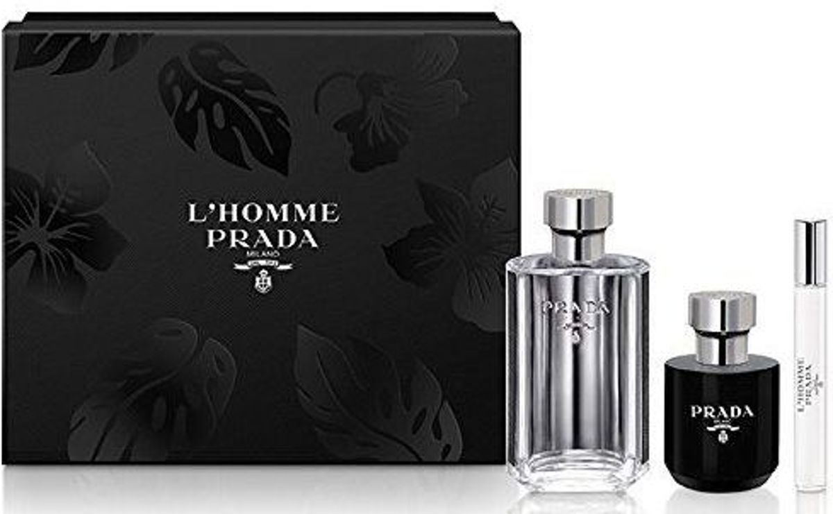 Prada - Eau de toilette - Lhomme 100ml eau de toilette + 100ml eau de toilette + 10ml eau de toilette + 100ml showergel - Gifts