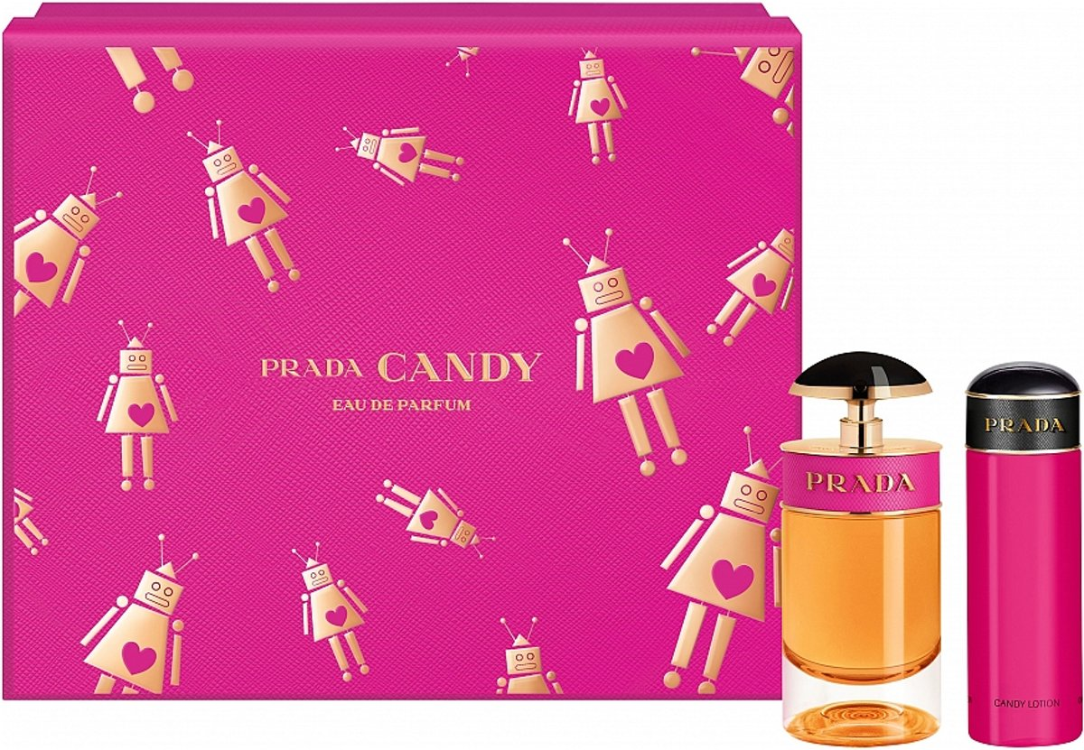 Prada Candy Giftset - 50 ml eau de parfum spray + 75 ml bodylotion - cadeauset voor dames