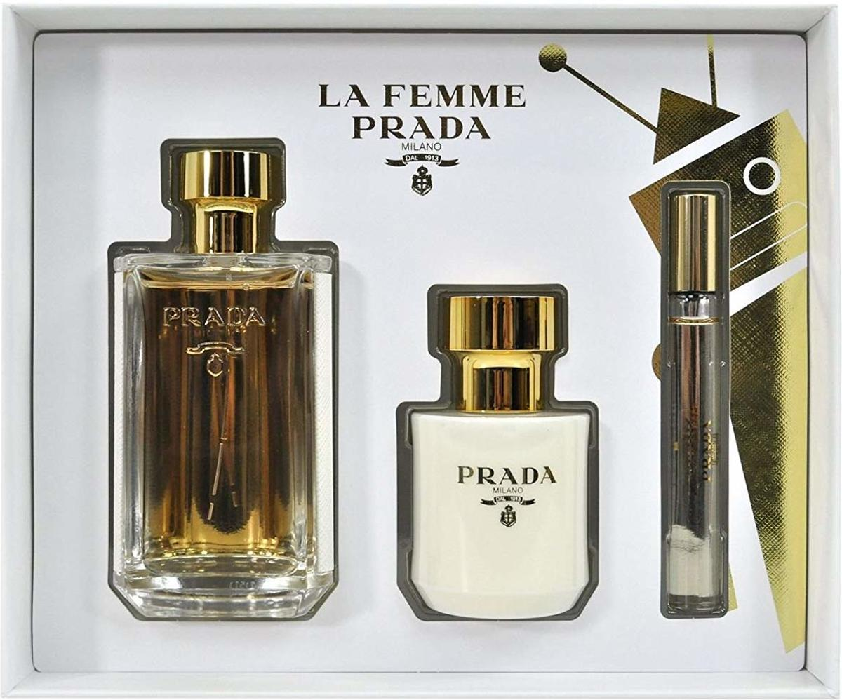 Prada La Femme 100 ml Edp + 10 ml Roll on + 100 ml BL set