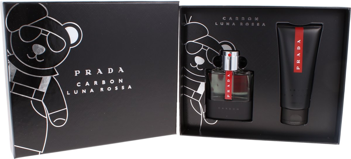 Prada Luna Rossa Carbon Giftset - 50 ml eau de toilette spray + 100 ml showergel - cadeauset voor heren