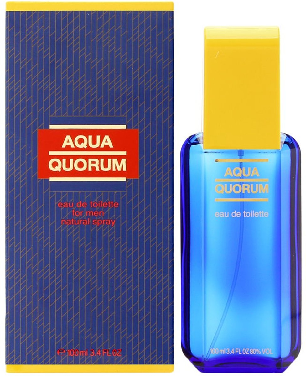 MULTI BUNDEL 3 stuks Puig Quorum Acqua Man Eau De Toilette Spray 100ml