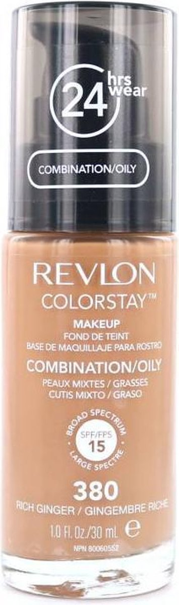 Revlon Colorstay Foundation With Pump - 380 Rich Ginger (Oily Skin)