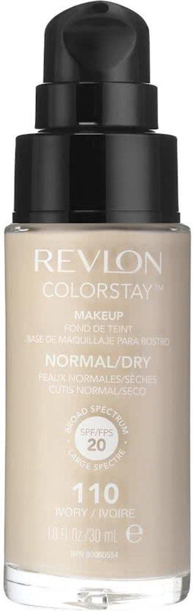 Revlon Colorstay Foundation With Pump Dry Skin - 110 Ivory