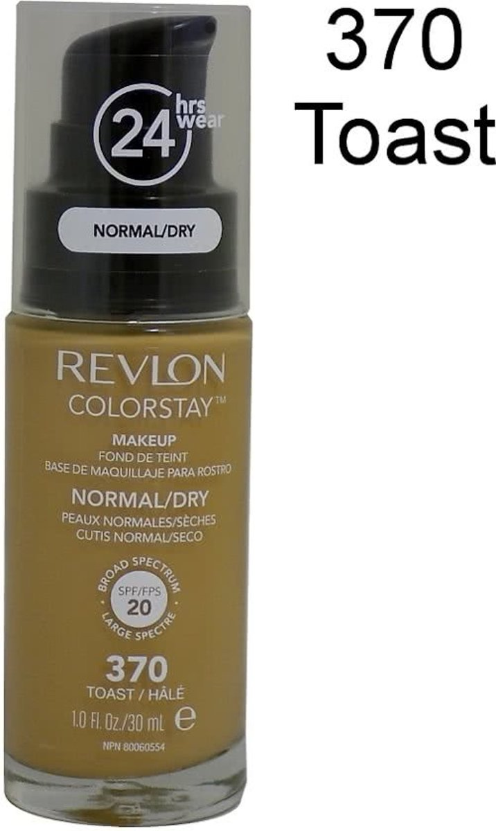 Revlon Colorstay Foundation With Pump Dry Skin - 370 Toast