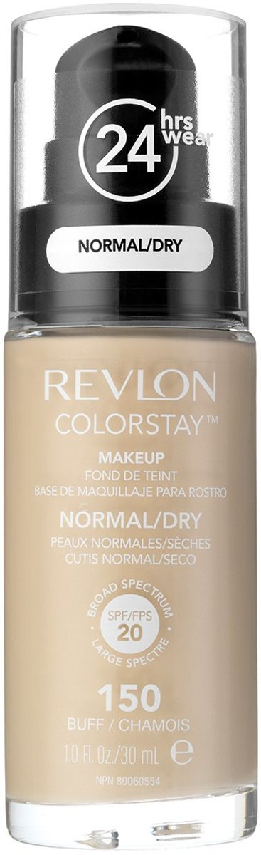 Revlon Colorstay Foundation With Pump Normal/Dry Skin - No. 150 Buff