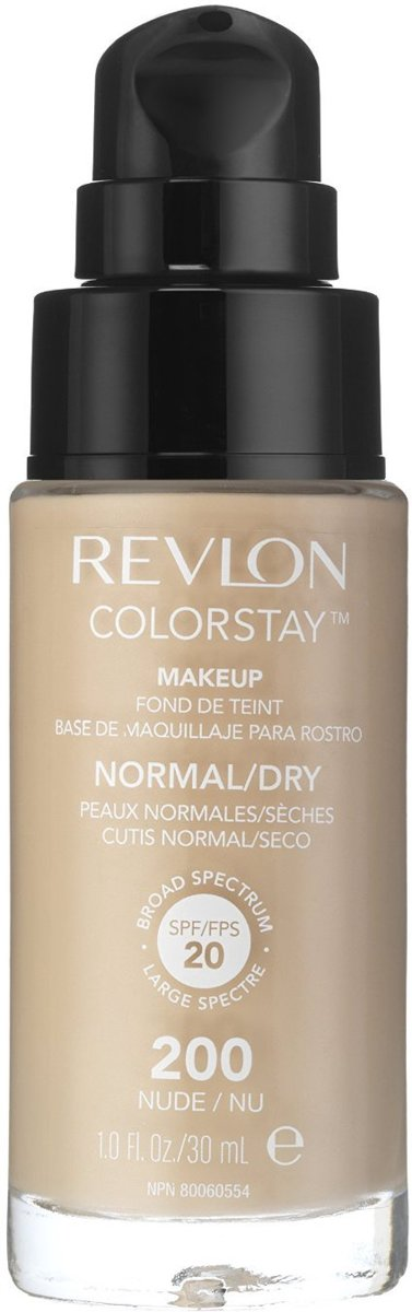 Revlon Colorstay Foundation With Pump Normal/Dry Skin - No. 200 Nude