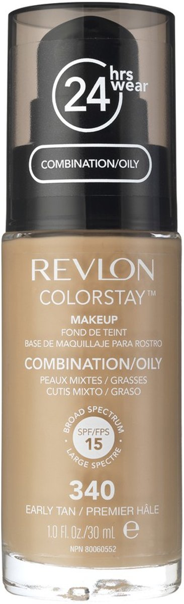 Revlon Colorstay Foundation With Pump Oily Skin - 340 Early Tan