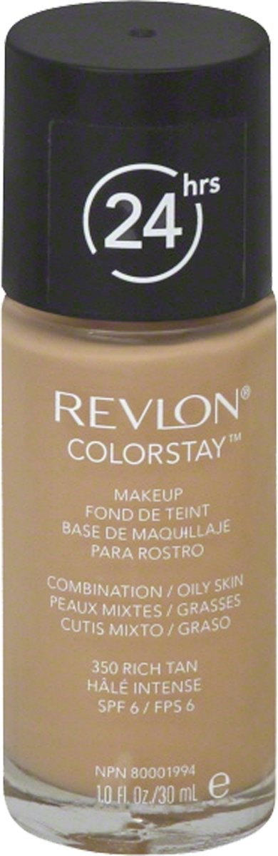 Revlon Colorstay Foundation With Pump Oily Skin - 350 Rich Tan