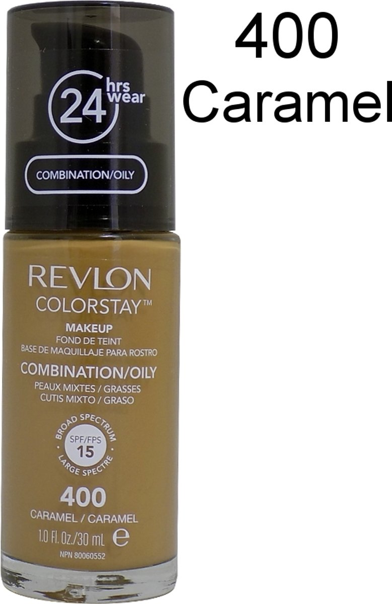 Revlon Colorstay Foundation With Pump Oily Skin - 400 Caramel