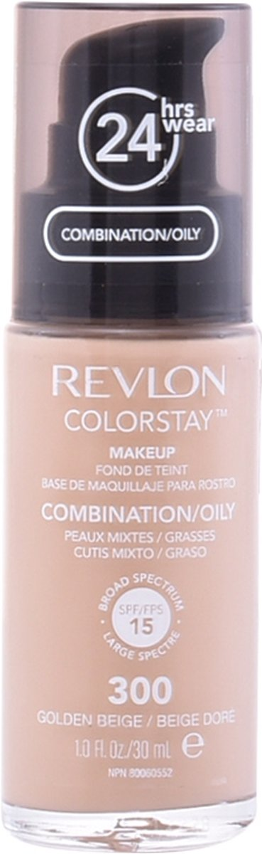Revlon Colorstay Make-up for Combination/Oily skin met pomp No. 300 - Golden Beige