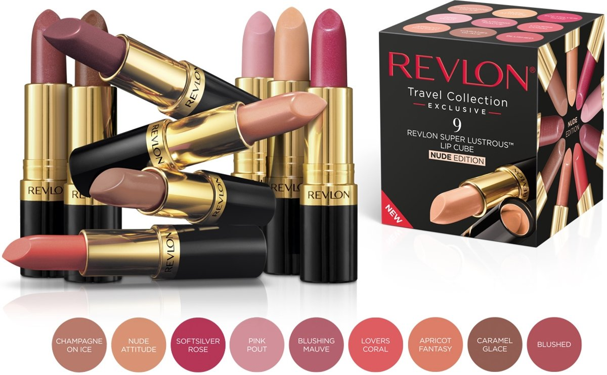 Revlon Super Lustrous Lip Cube Nude Edition 9 Lipsticks