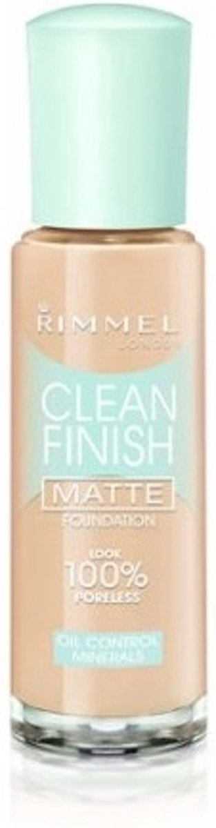 Rimmel Clean Finish Matte Foundation - 120 Ivory 30 ml