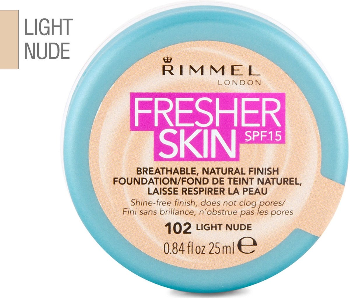 Rimmel Fresher Skin Foundation 102 Light Nude