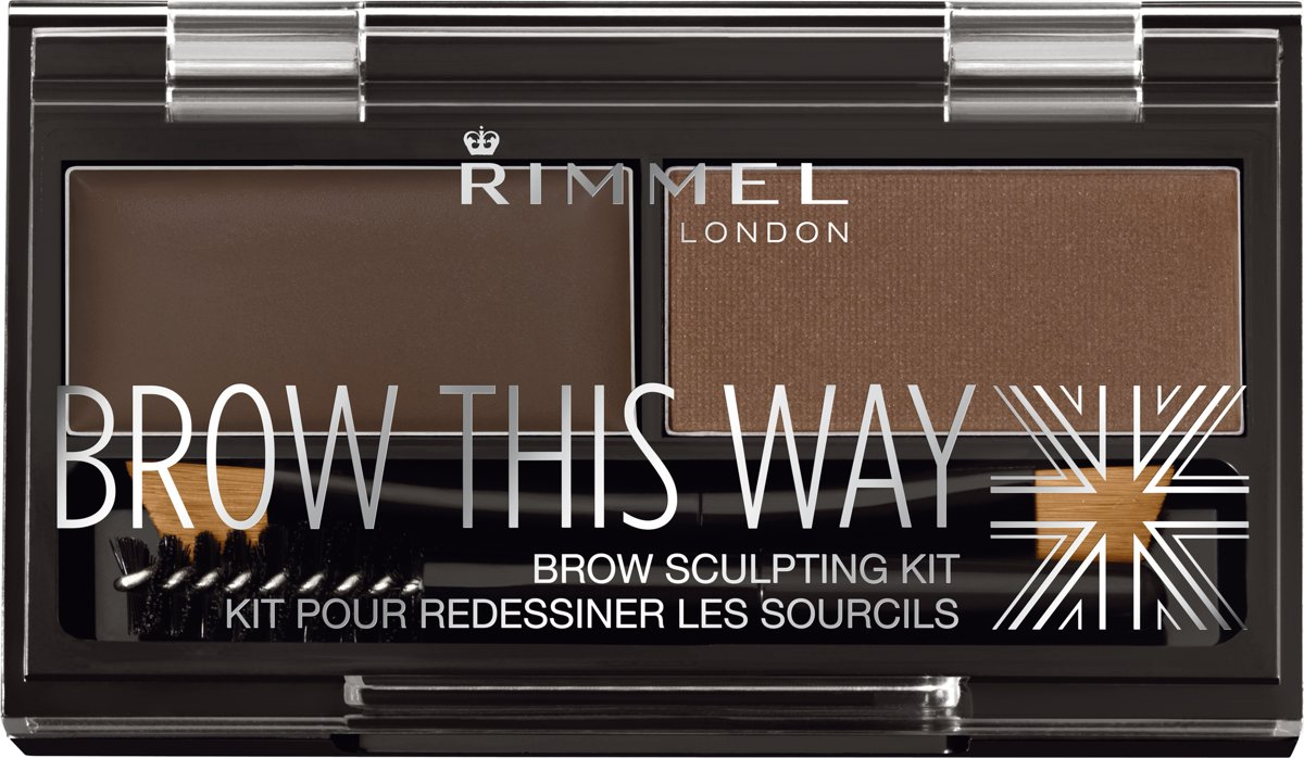 Rimmel London Brow this way Eyebrow kit Wenkbrauwpoeder - 003 Dark Brow