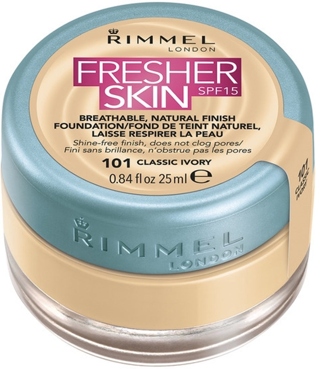 Rimmel London Fresher Skin Foundation - 101 Classic Ivory