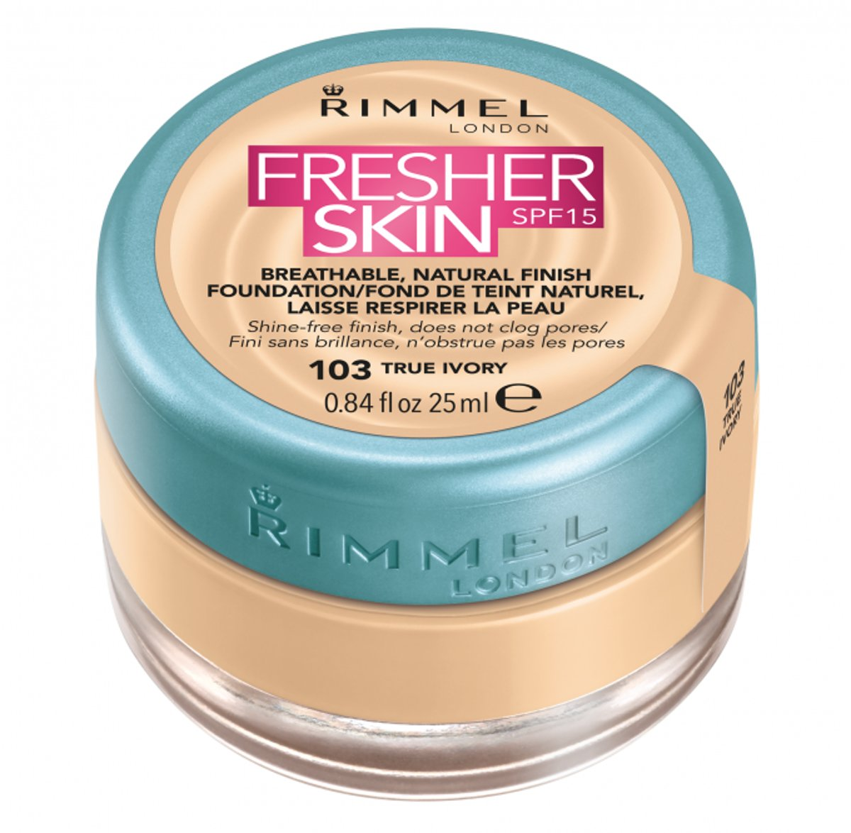 Rimmel London Fresher Skin Foundation - 103 True Ivory