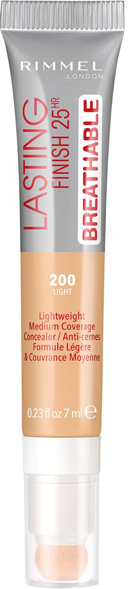 Rimmel London Lasting Finish Breathable Concealer - 200 Soft Beige