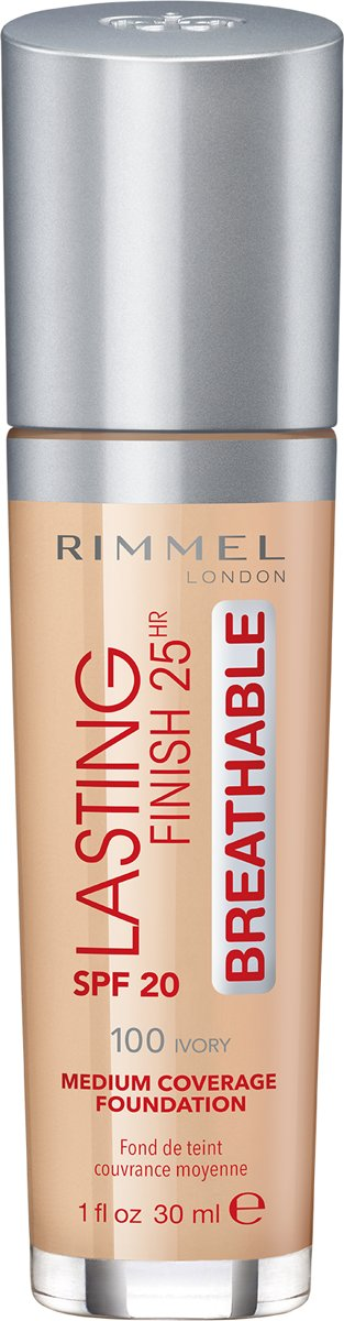 Rimmel London Lasting Finish Breathable Foundation - 100 Ivory