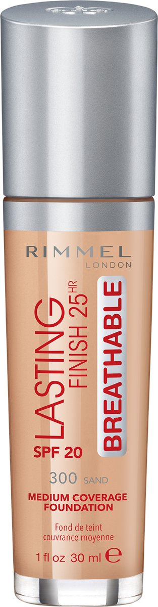 Rimmel London Lasting Finish Breathable Foundation - 300 Sand