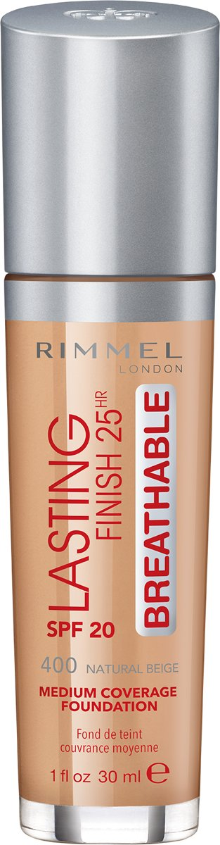 Rimmel London Lasting Finish Breathable Foundation - 400 Natural Beige