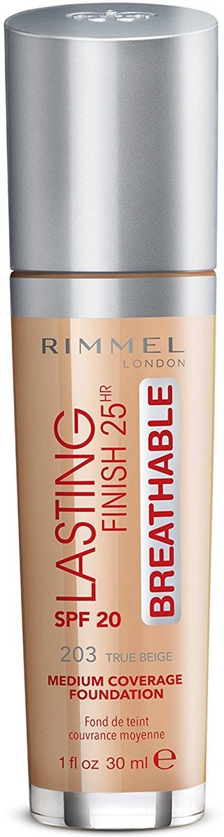 Rimmel London Lasting Finish Breathable Foundation 203 True Beige