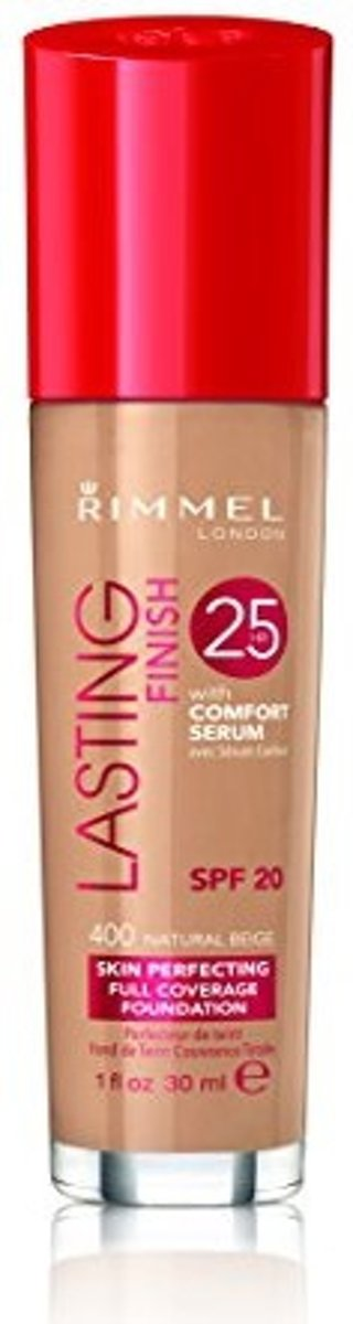 Rimmel London Lasting Finish Foundation - 400 Naturel Beige