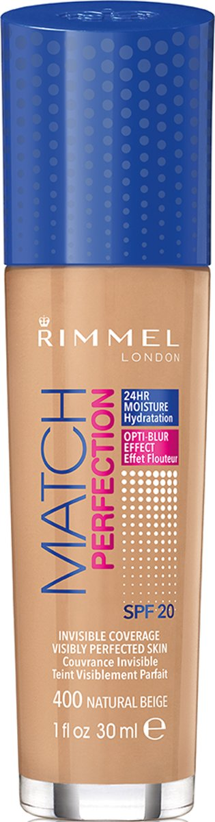 Rimmel London Match Perfection Foundation - 400 Natural Beige