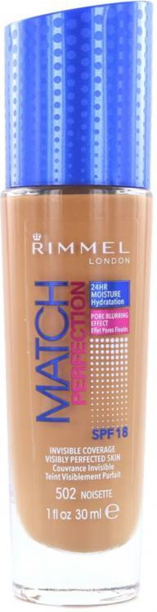 Rimmel London Match Perfection Foundation 502 Noisette