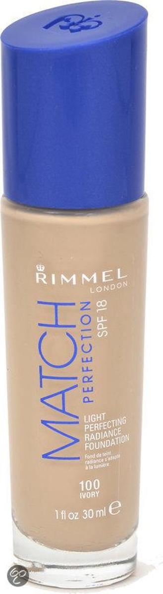 Rimmel Match Perfection Foundation - 100 Ivory - Foundation