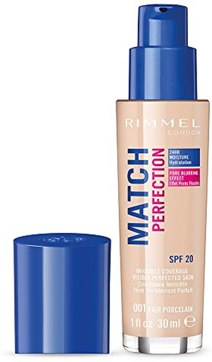 Rimmel Match Perfection Foundation 001 Fair Porcelain