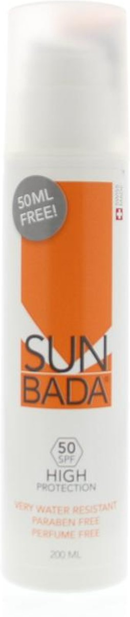 Sunbada SPF 50 - 200 ml - Zonnecreme